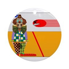 clown playing dodgeball t-shi Ornament (Round)