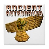 Ancient Astro Wings Tile Coaster