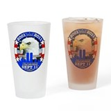 911 Sept 11 10th Anniversary Drinking Glass