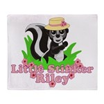 Little Stinker Riley Throw Blanket