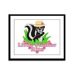 Little Stinker Rita Framed Panel Print