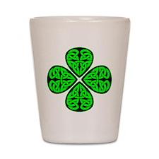 4 Leaf Celtic Shot Glass
