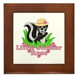 Little Stinker Rose Framed Tile