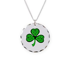 3 Leaf Celtic Necklace Circle Charm