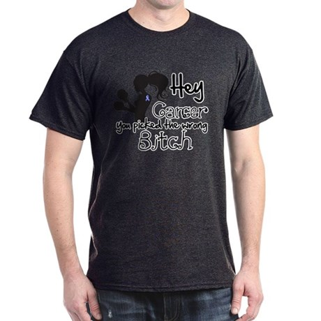 Wrong Bitch Esophageal Cancer Dark T-Shirt