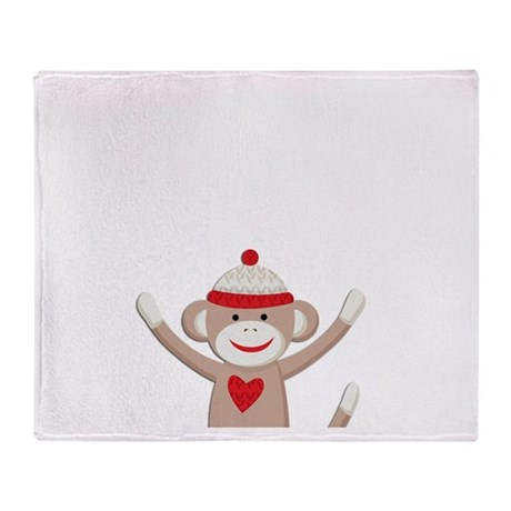 Sock Monkeys Throw Blanket