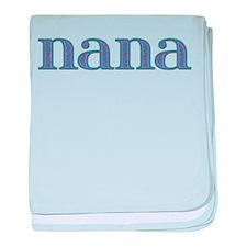 Nana Blue Glass baby blanket