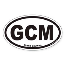 Grand Cayman GCM Euro Oval Decal