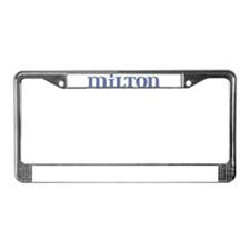 Milton Blue Glass License Plate Frame