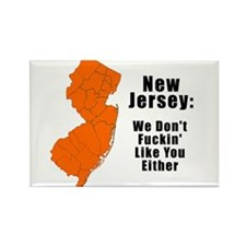 Unique New jersey Rectangle Magnet (10 pack)