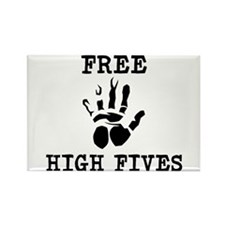Free High Fives Rectangle Magnet (10 pack)