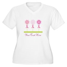 Pink Ribbon Personalized Breast Cancer T-Shirt