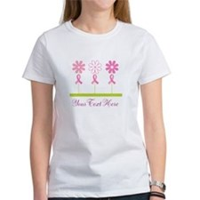 Pink Ribbon Personalized Breast Cancer Tee