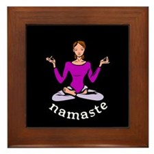 Namaste (Lotus Pose) Framed Tile
