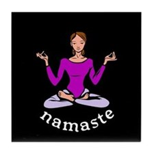 Namaste (Lotus Pose) Tile Coaster
