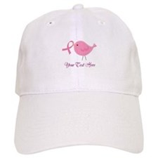 Personalized Pink Cancer Bird Baseball Cap