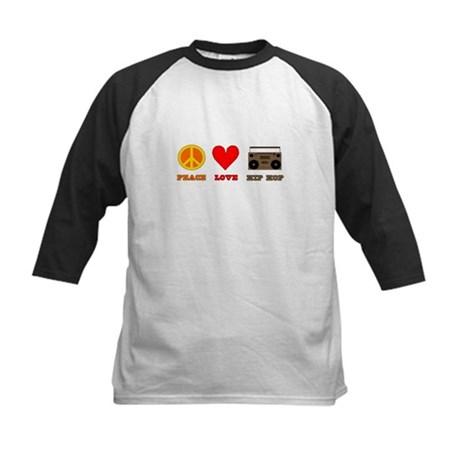 Peace Love Hip Hop Kids Baseball Jersey