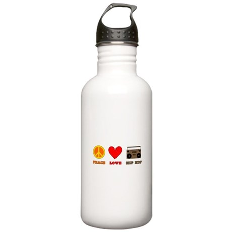 Peace Love Hip Hop Stainless Water Bottle 1.0L