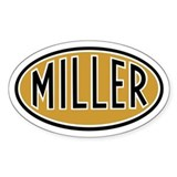 Miller Logo Oval Decal