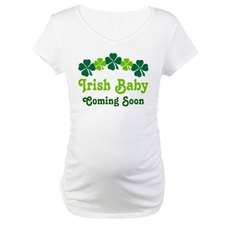 Irish Baby St. Paddy's Day Maternity T-Shirt