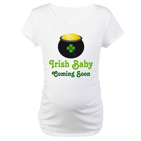 Irish Baby Pot of Gold Maternity T-Shirt