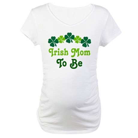 Irish Mom Shamrock Maternity T-Shirt