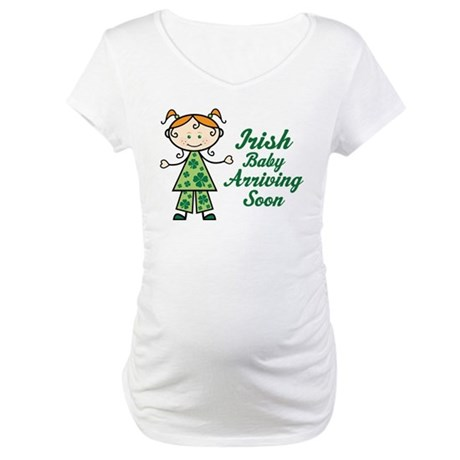 Irish Baby Red Hair Maternity T-Shirt