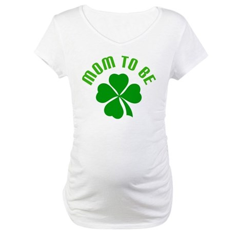 Irish Mom-to-Be Shamrock Maternity T-Shirt