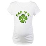 Irish Mom-to-Be Shamrock Maternity T-Shirt
