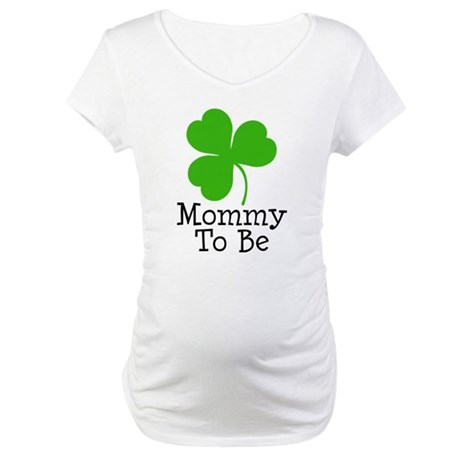 Shamrock Mom-to-Be Maternity T-Shirt