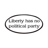 Liberty has no Political Part Patches