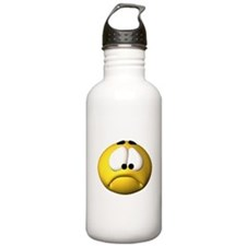 Goofy Sad Face Water Bottle