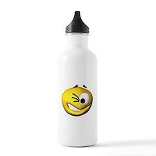 Goofy Winking Face Water Bottle