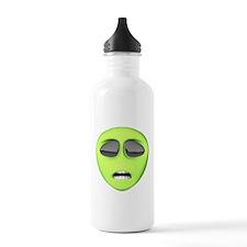 Scared Alien Face Water Bottle