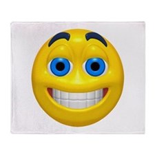 Happy Cheesy Face Throw Blanket