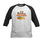 Boxer Mommy Pet Gift Kids Baseball Jersey