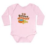 Boxer Mommy Pet Gift Long Sleeve Infant Bodysuit