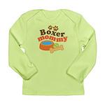 Boxer Mommy Pet Gift Long Sleeve Infant T-Shirt