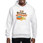 Boxer Mommy Pet Gift Hooded Sweatshirt