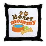Boxer Mommy Pet Gift Throw Pillow