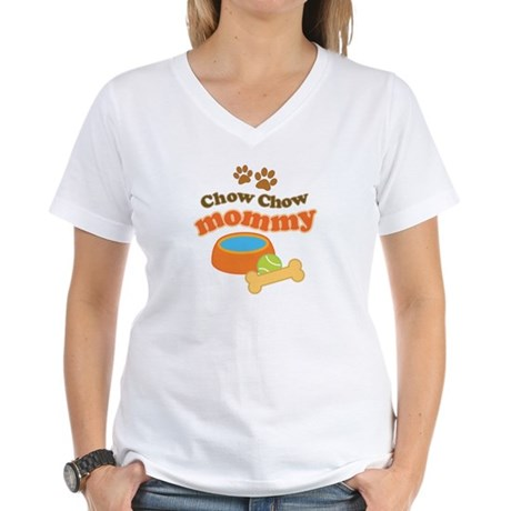 Chow Chow Mommy Pet Gift Women's V-Neck T-Shirt