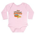 Elkhound Mommy Pet Gift Long Sleeve Infant Bodysui