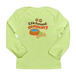 Elkhound Mommy Pet Gift Long Sleeve Infant T-Shirt