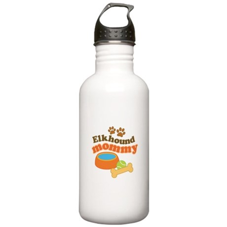 Elkhound Mommy Pet Gift Stainless Water Bottle 1.0