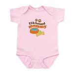 Elkhound Mommy Pet Gift Infant Bodysuit