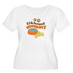 Elkhound Mommy Pet Gift Women's Plus Size Scoop Ne
