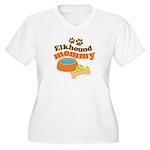 Elkhound Mommy Pet Gift Women's Plus Size V-Neck T