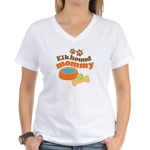 Elkhound Mommy Pet Gift Women's V-Neck T-Shirt