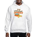 Elkhound Mommy Pet Gift Hooded Sweatshirt