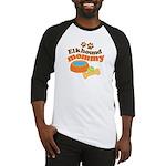 Elkhound Mommy Pet Gift Baseball Jersey